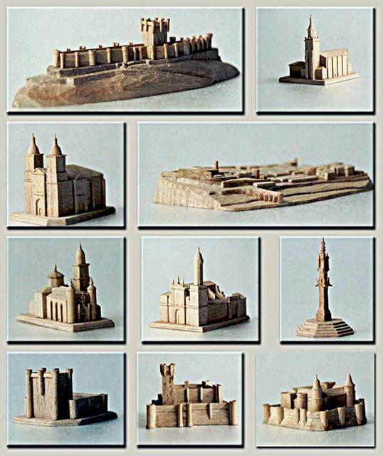 MAQUETAS CLEMENTE · Monumentos Provincia Valladolid 1-7500 a 1-1500