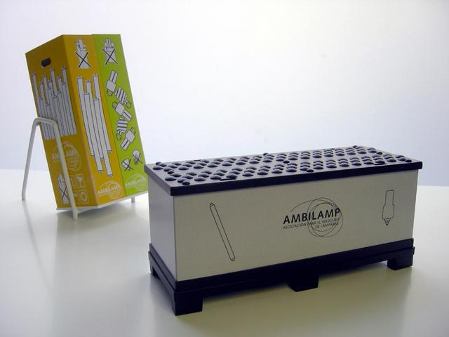 MAQUETAS CLEMENTE · Contenedores Reciclaje Lámparas 1-10 y 1-5 · Maquetas